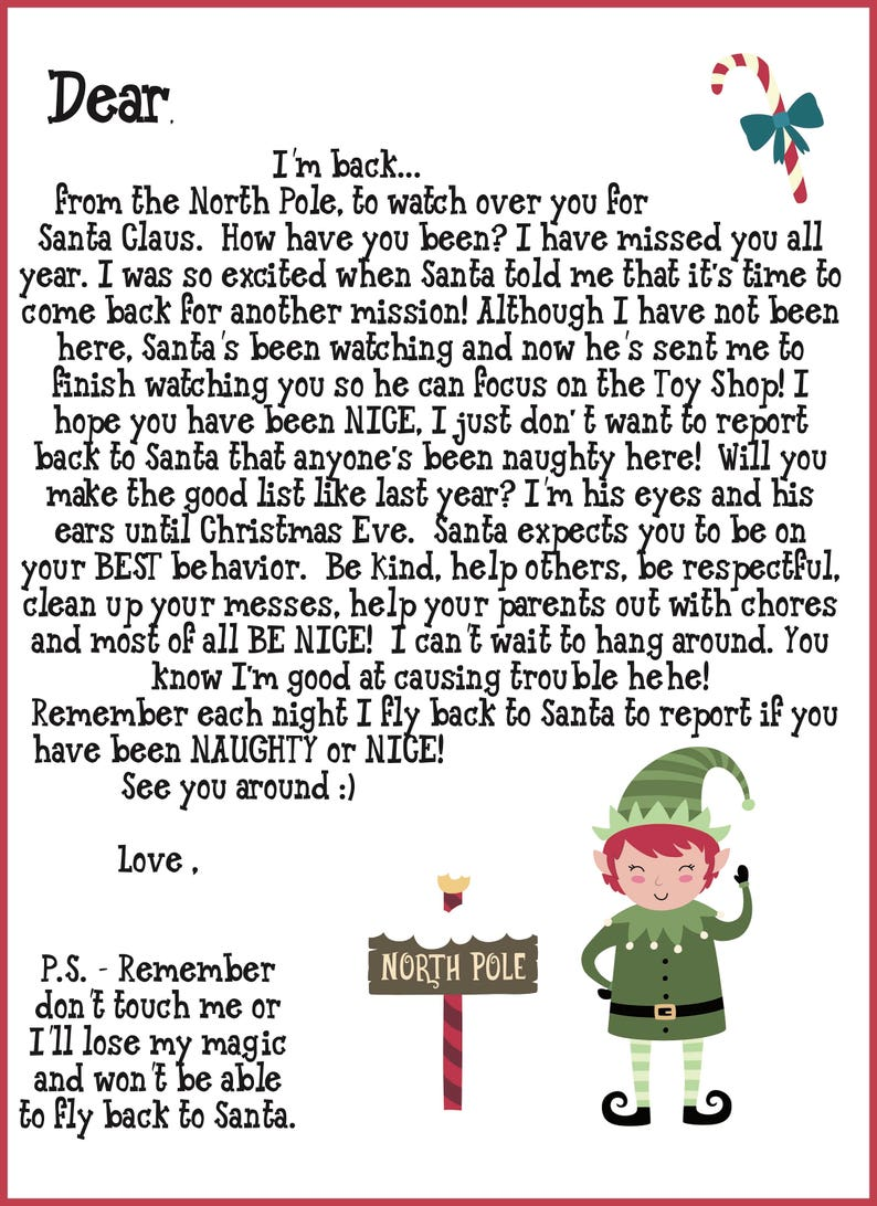 photo about Elf on the Shelf Printable Notes named Elf Shelf Printable Notes ( Incorporates Welcome , Goodbye Letters and Initial season Elf Go to) 40 Notes, A entire record of Strategies and Elf Twister