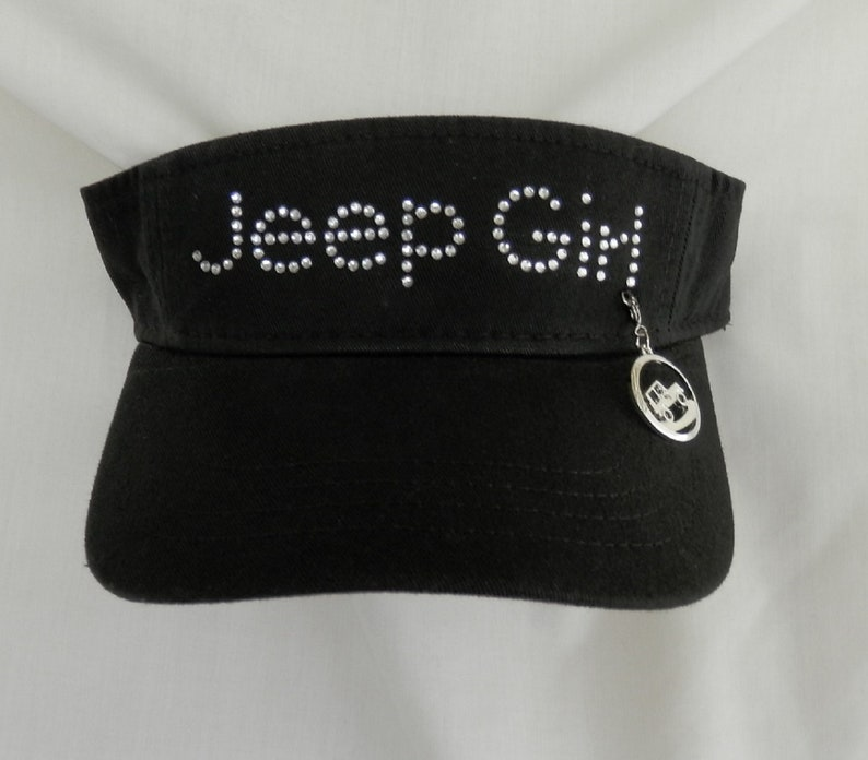 7a5ddd307e2c9 Women s Jeep Girl Rhinestone Visor. It Comes With A