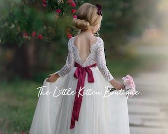 38f385d4cdf Tulle flower girl dress