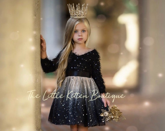 tulle flower girl dress, rustic lace flower girl dresses, girls holiday dress, black flower girl dress, ivory flower girl dress, gold dress