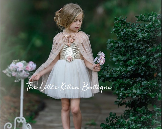 Ivory tulle Flower Girl Dress, Flower Girl Dresses, Rustic Lace flower girl dress, boho flower girl dress, girls party dress, holiday dress