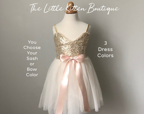 tulle flower girl dress, rustic lace flower girl dresses, gold sequins flower girl dresses, boho flower girl dress, ivory flower girl dress