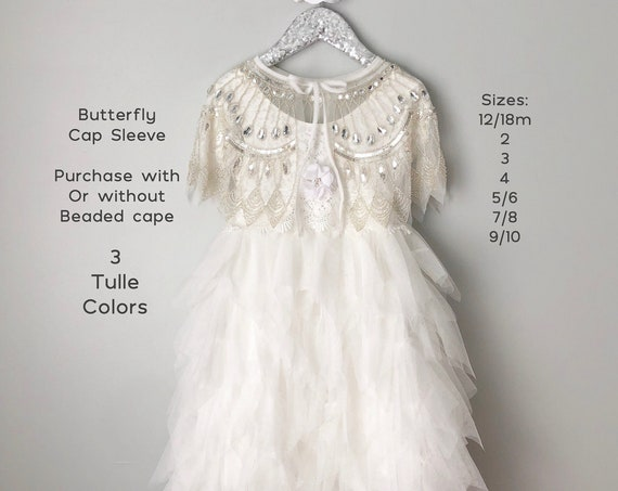White flower girl dress, Lace flower girl dress, Tulle flower girl dress, Toddler flower girl dress, Ivory tutu dress, First Birthday dress