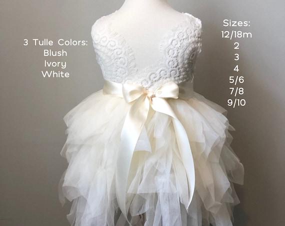 Tulle Flower Girl Dress, Flower Girl Dress, Blush Flower Girl Dress, Rustic Lace Flower Girl Dress, Boho Dress, junior bridesmaid, Sash Belt