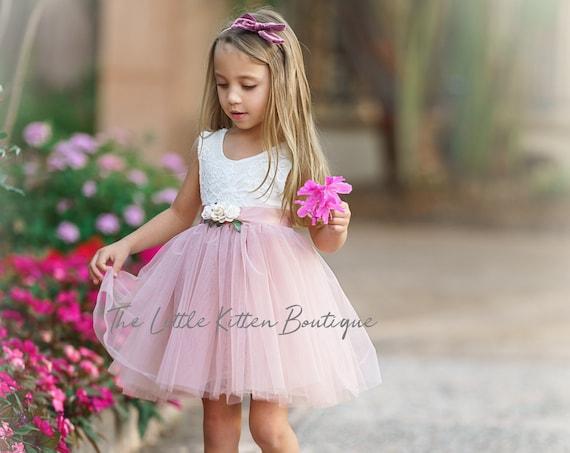 tulle flower girl dress, rustic lace flower girl dress, bohemian flower girl dress, boho flower girl dress, flower girl dress, girls dress