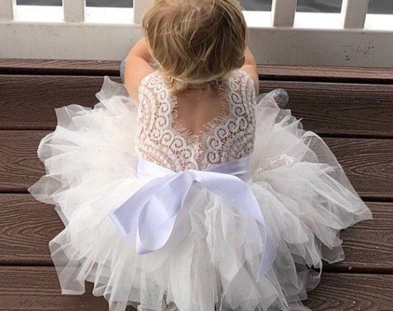 tulle flower girl dress, girls birthday dress, first birthday dress, ivory flower girl dress, flower girl dresses, girls pink birthday dress