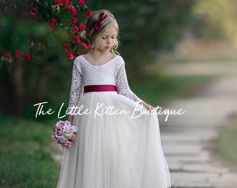 a789c3846dca4 Tulle flower girl dress | Etsy