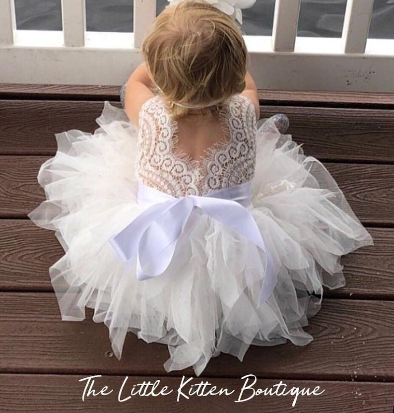 943a65c8e Tulle flower girl dress girls birthday dress first birthday   Etsy