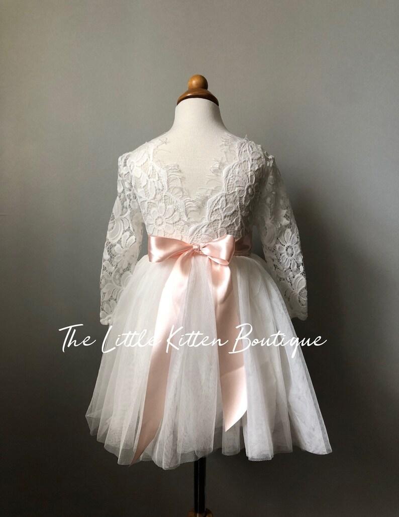 f400d79fe539a Etsy Ivory Lace Flower Girl Dress - raveitsafe