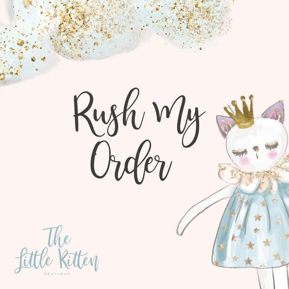 RUSH MY ORDER - Upon Approval - Please read description. Seller must be contacted prior to purchase.