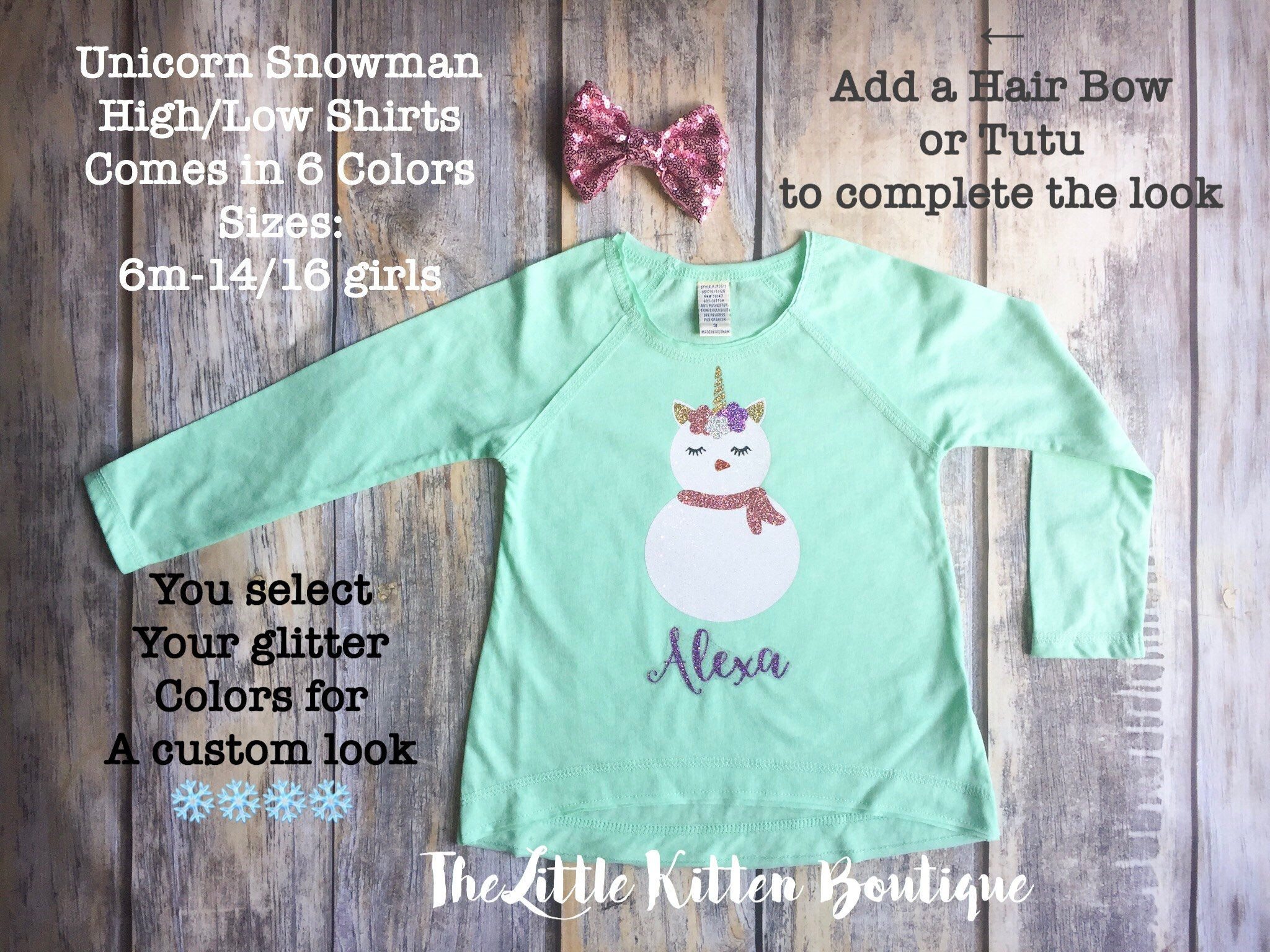 snowman shirts unicorn shirts girls holiday shirts girls christmas outfits pictures with santa personalized kids christmas shirts - Christmas Shirts For Girls