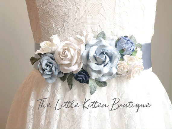 Flower Sash, wedding sash, sash's, sashes for dresses, wedding belt, Sash, Blush Sash, Ivory Sash, White Sash, Wedding, Flower girl dress