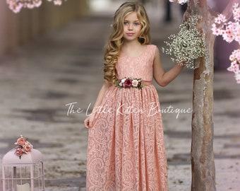 Flower Girl Dress, wedding dress boho, boho flower girl dress, boho wedding, girl dress, wedding dress, lace dress, dress for girl, dress