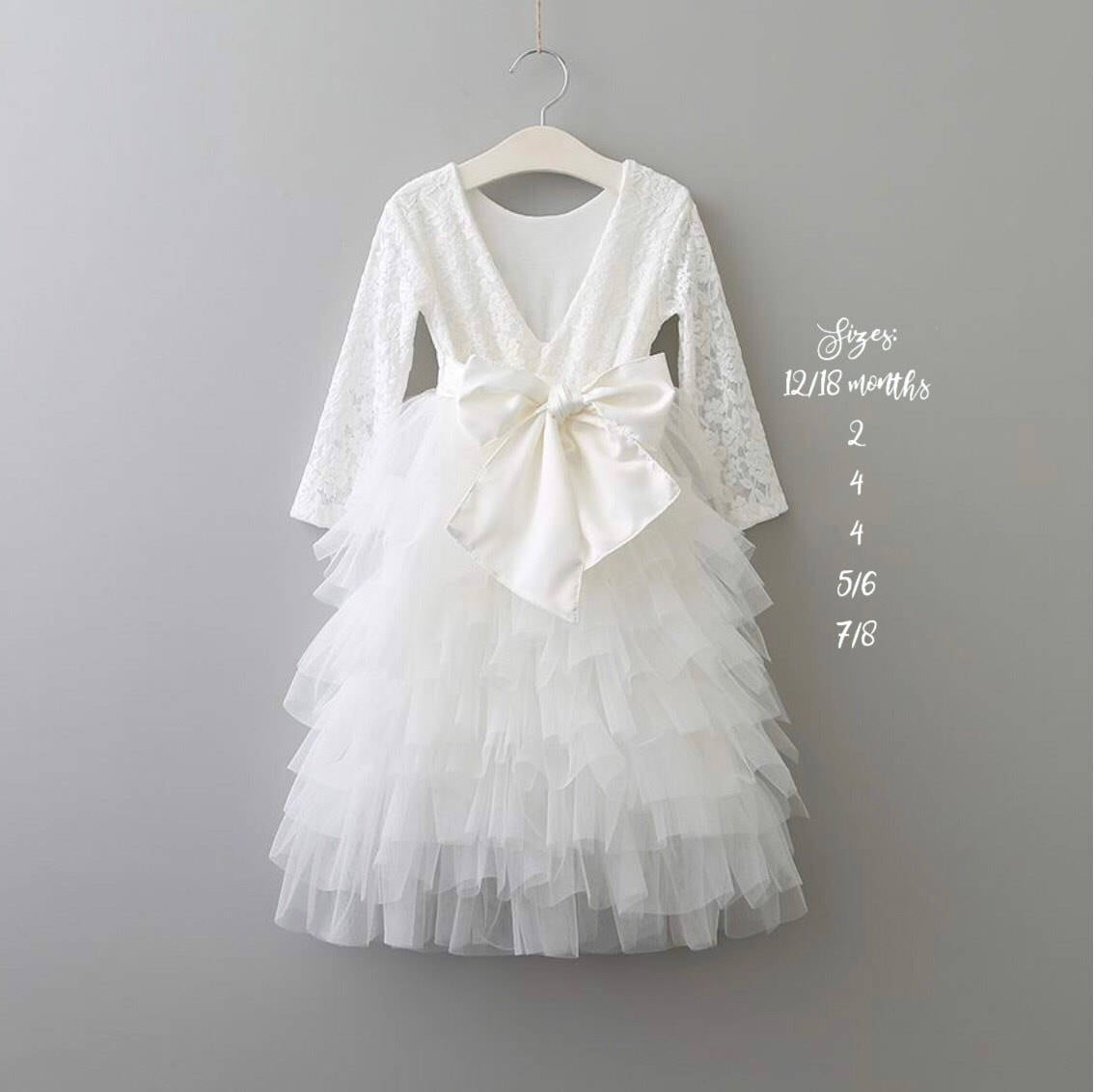 White Flower Girl Dress White Lace Wedding Dress Lace Flower Girl