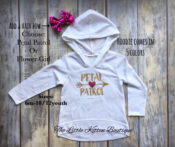 Flower Girl Shirt, Flower Girl Hoodie, Flower Girl Sweatshirt Petal Patrol Shirts Flower Girl dress Gift for Flower Girl Flower Girl Outfit,
