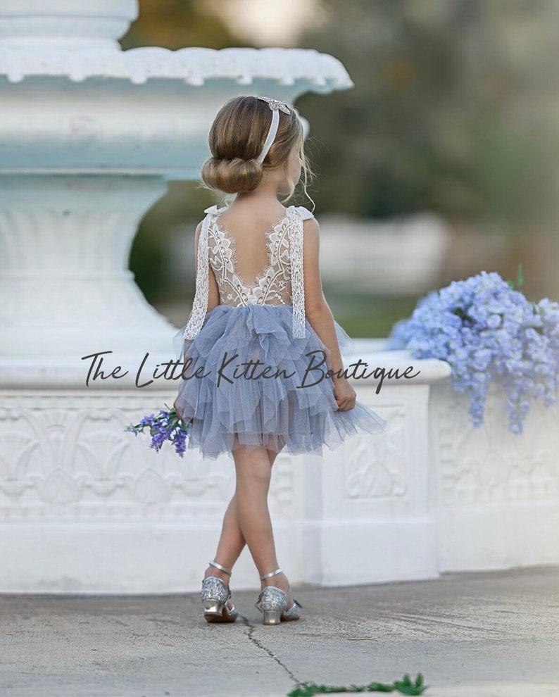 c5d60796d73c Tulle Flower Girl Dress Ivory Flower Girl Dress White Lace | Etsy