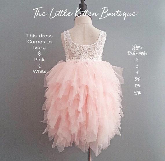 Flower Girl Dress Ivory Flower Girl Dress Pink Flower Girl Dress Vintage Lace Flower Girl Dress Tulle Flower Girl Dresses Rustic Flower Girl