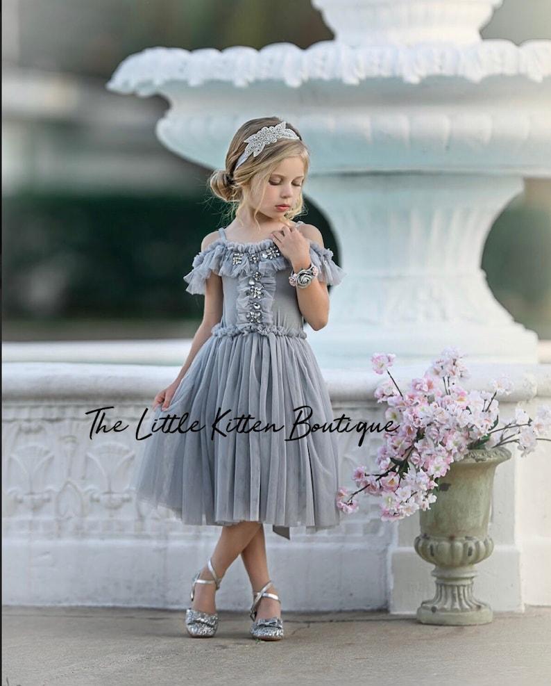 64c7db08a7be Tulle Flower Girl Dress Ivory Flower Girl Dress White Lace   Etsy