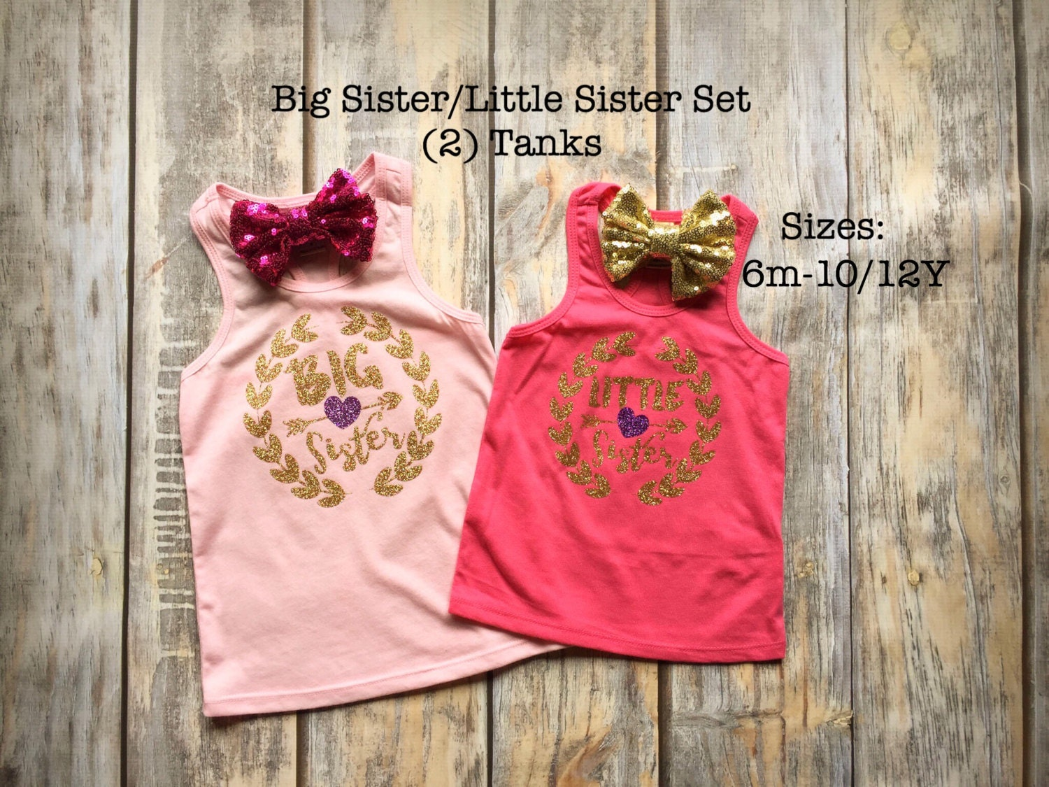 Big Sister Shirt Little Sister Shirt Birth Announcement Shirt Big