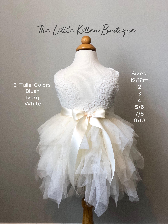 Ivory Flower Girl Dress Lace Flower Girl Dress White Flower Girl