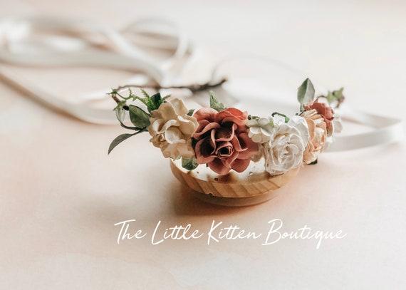 Floral hair wreaths, head wreaths, hair laurels, wedding hair accessories, floral headband, flower girl hair accessories, rustic headbands