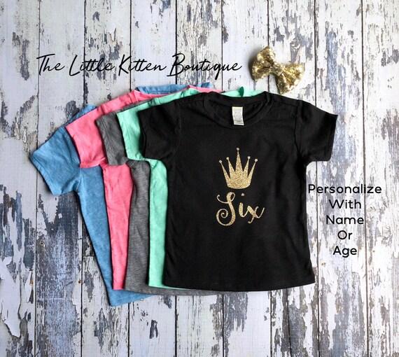 Girls Birthday Shirt Birthday Outfit Birthday T-shirt Personalized birthday Shirt Personalized T-Shirt Birthday Princess first birthday 1st