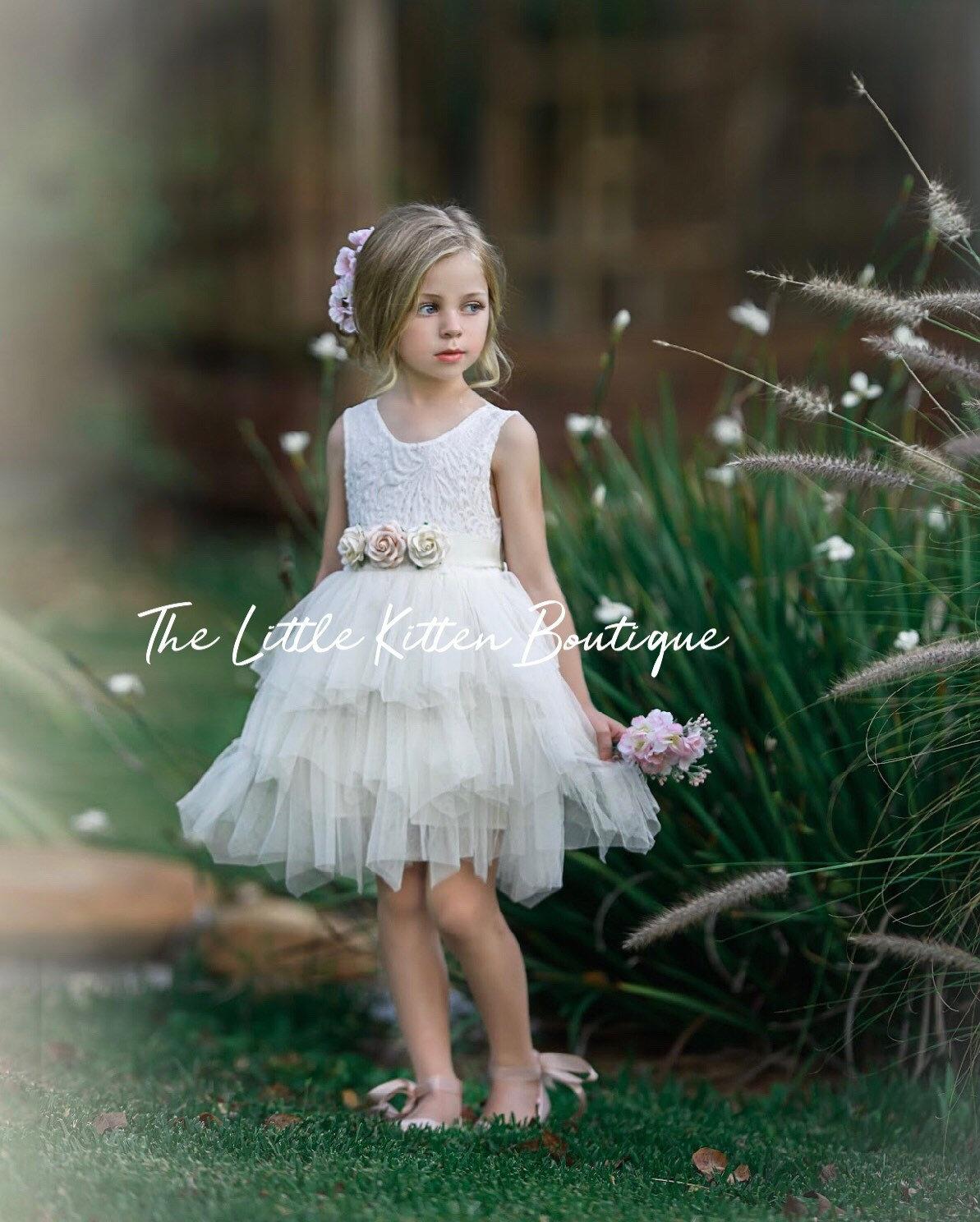 1a18d357733 Ivory Flower girl dresses