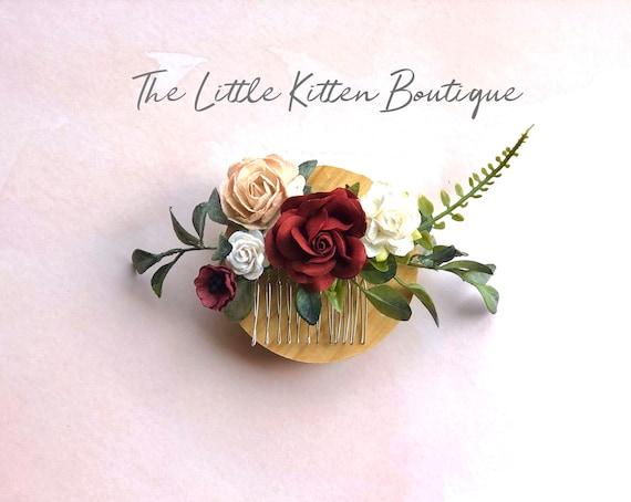 Flower hair combs, flower wedding hair comb, wedding hair accessories, bridal flower crown, flower girl hair accessories, bridal hair piece