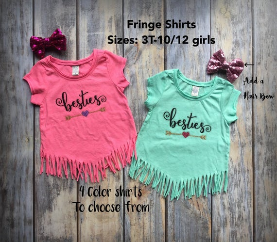 Best Friend Shirts Best Friend matching shirts friend shirts besties shirts best friends t-shirt cousins sisters siblings birthday gift pink