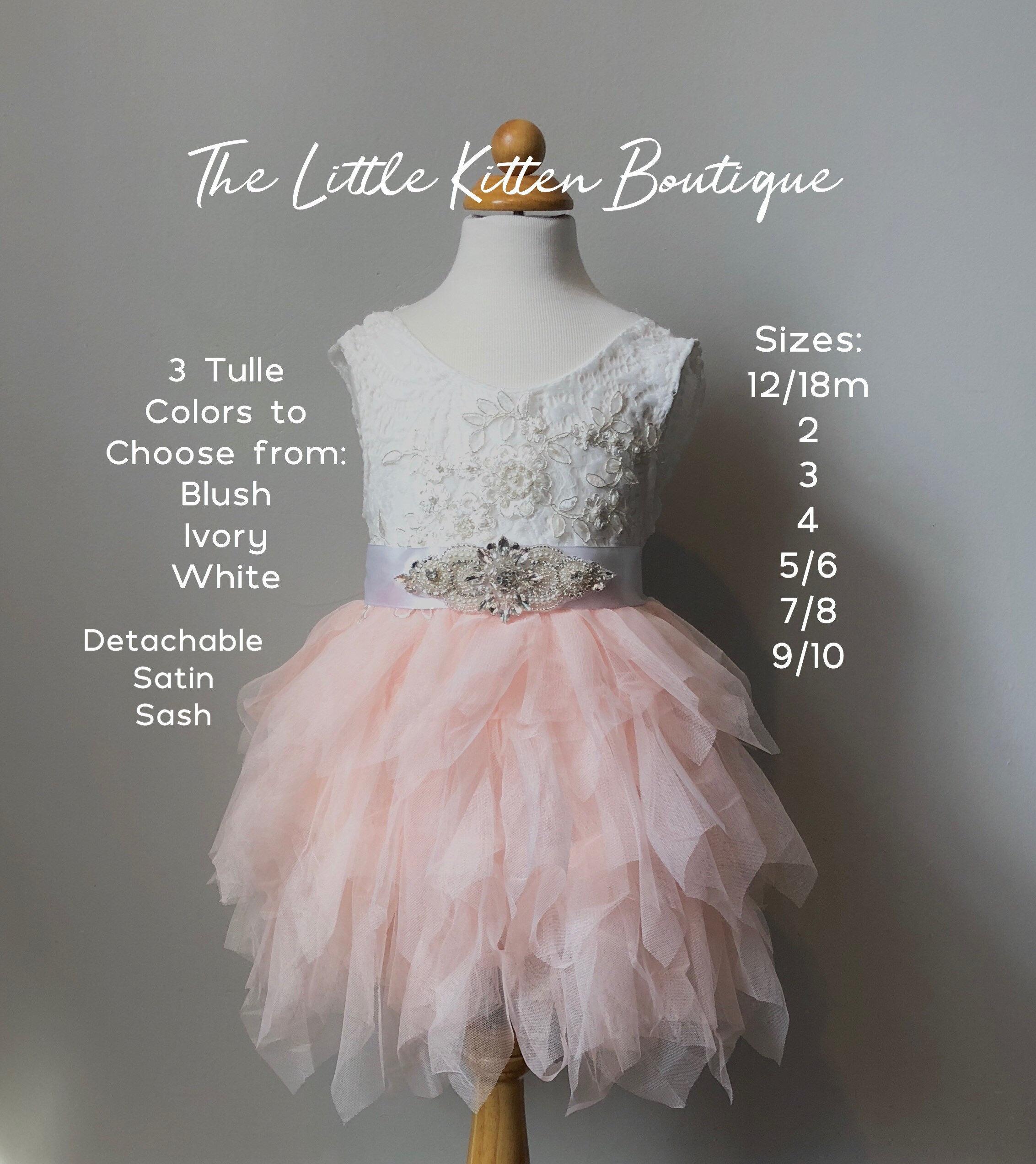 47c362b4371f Tulle Flower Girl Dress Ivory Flower Girl Dress Pink Blush