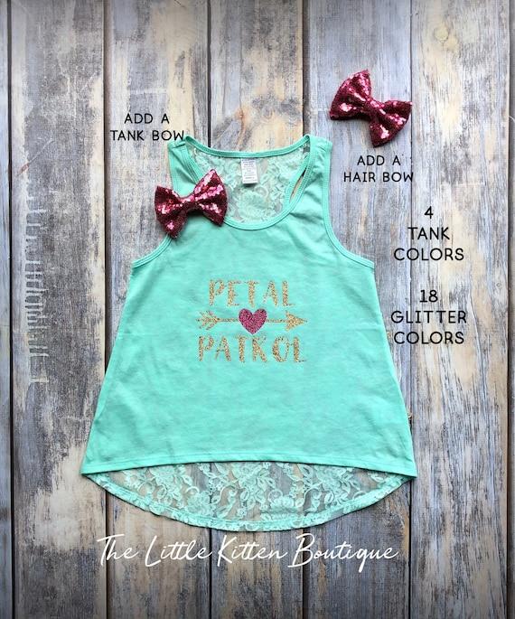 Flower Girl Shirt Flower Girl Shirts Petal Patrol Gift for flower girl Flower girl proposal Flower girl tank flower girl t-shirt lace mint