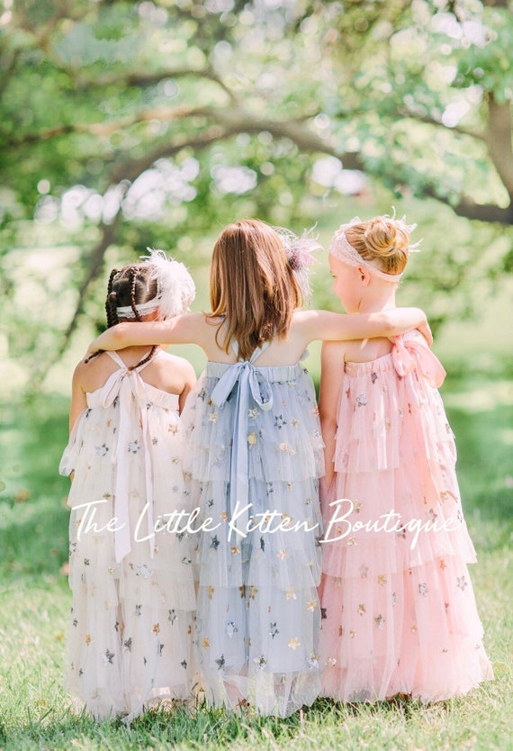 flower girl dress, lace flower girl dresses, girls summer dress, boho dress, ivory flower girl dress, tea party dress, girls birthday dress