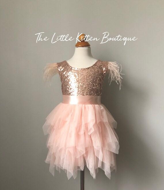 Tulle flower girl dress, pink flower girl dress, Ivory flower girl dress, Rustic lace flower girl dress, sequins flower girl dress, tutu