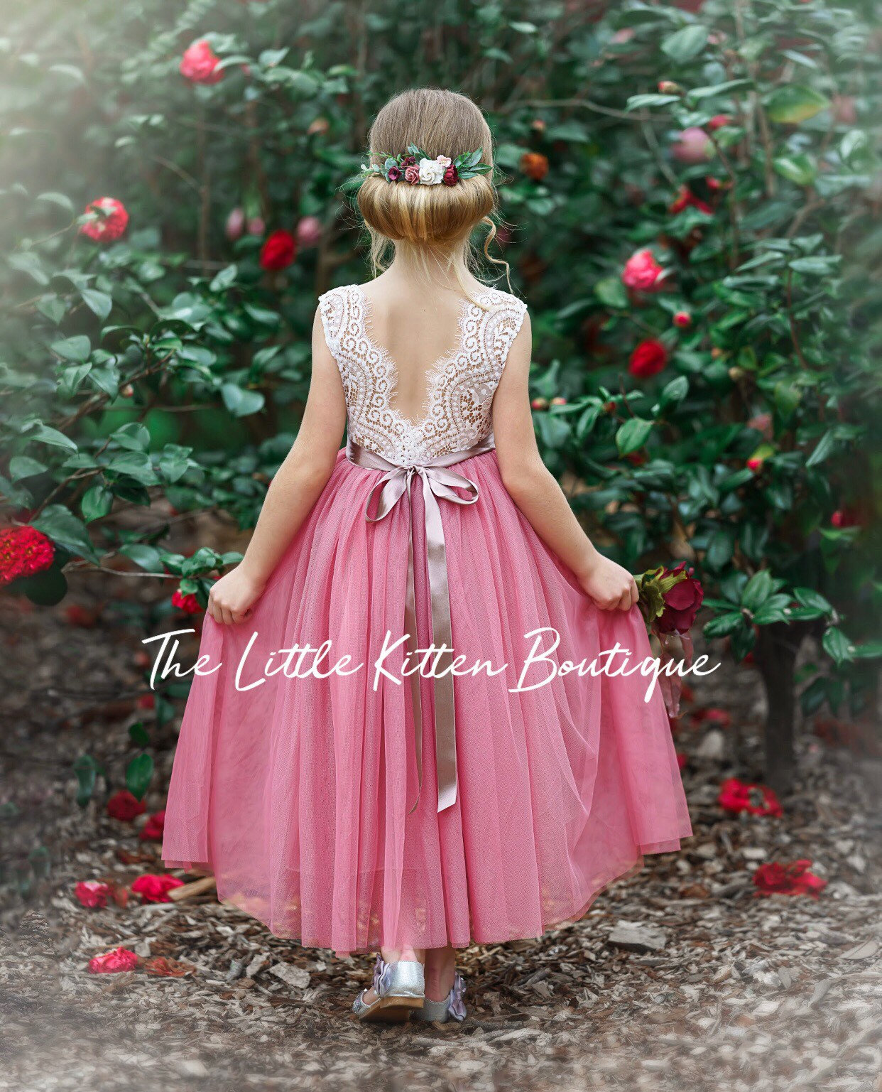 Ivory Flower Girl Dress Tulle Flower Girl Dress Boho Flower Girl Dress Rustic Lace Flower Girl Dress Wedding Dress Outdoor Wedding,Lace Beach Wedding Dresses Uk