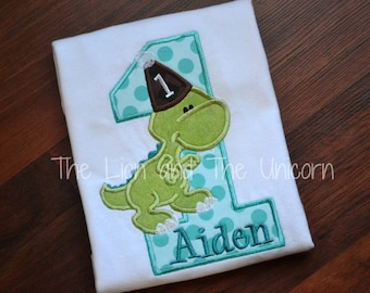 Dino Birthday with Name (number can be changed) Dinosaur First Birthday