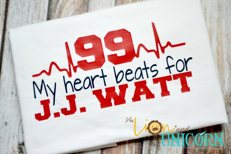 95567a160290a My Heart Beats for JJ WATT - red and navy