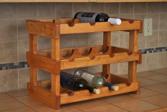 Cherry 12-bay wine rack
