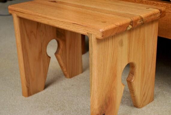 Small oak sitting stool