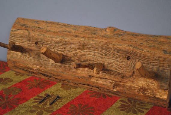 Natural Red Oak Coat Rack
