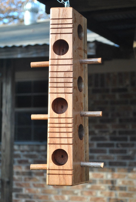 Suet bird feeder, red oak 16""