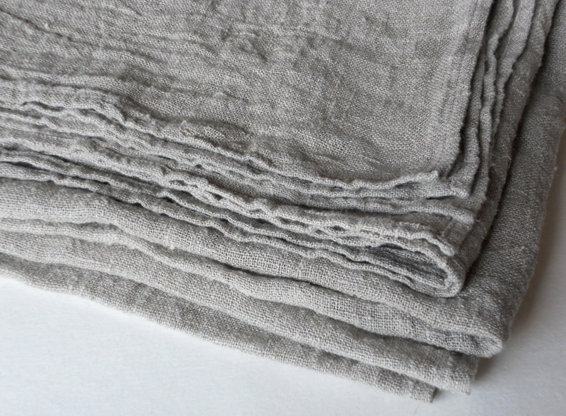 Pure linen tablecloth natural undyed beige ecru washed rustic image 0
