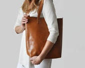 Honey brown Crossbody Shopper - perfect for everyday, work, school, market!