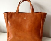 Leather Tote, Tote, Brown Leather bag, shopping bag