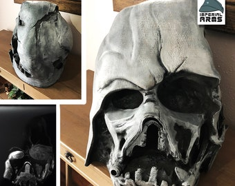 Melted Darth Vader Helmet Star Wars Custom Replica  Prop Life size 1:1 scale Prop From The Force Awakens