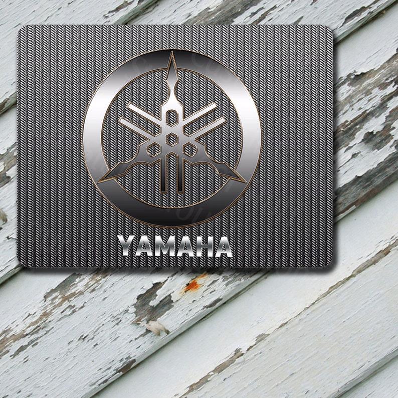 Tapis De Souris Yamaha Racing Logo Chrome Look Design Durable Etsy