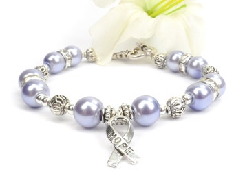 Periwinkle Purple Awareness Bracelet, Eating Disorders, Esophageal cancer, Irritable Bowel Syndrome(IBS), Stomach Cancer