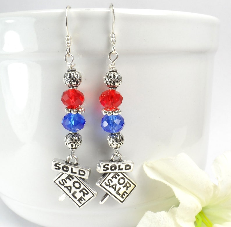 Realtor Earrings Real Estate Agent Jewelry Gift for Realtor image 0