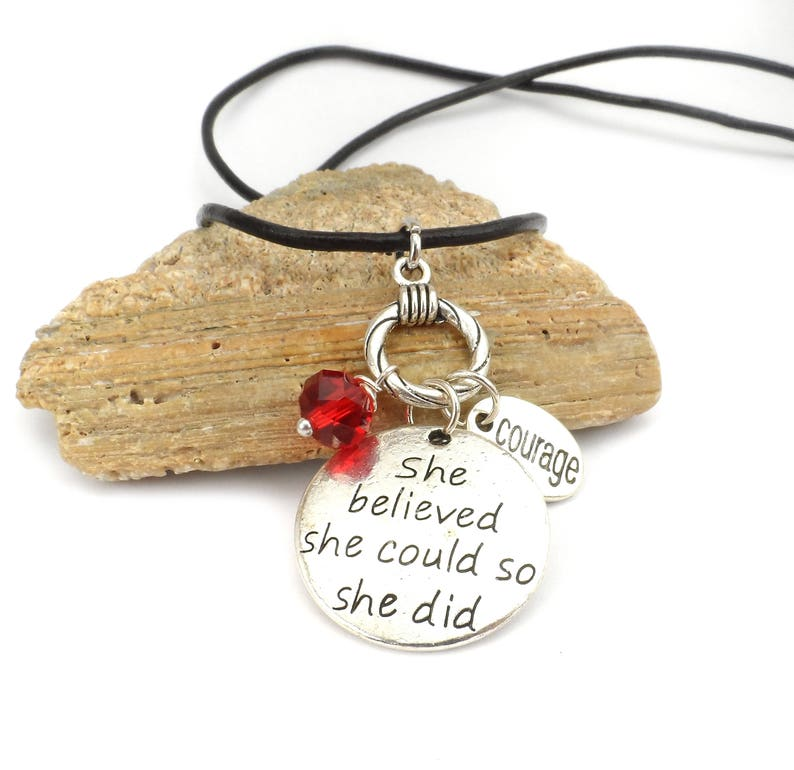 She Believed She Could So She Did Charm Necklace image 0