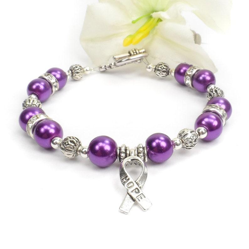 Purple Awareness Bracelet ADHD Alzheimer's Disease image 0