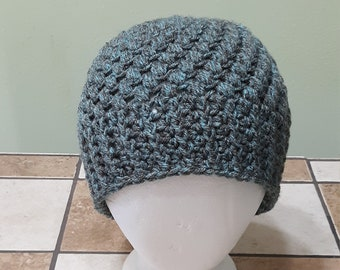 Green and Blue Tweed Color Messy Bun Hat